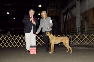 Jaz best opposite sex and best of breed-owner handler